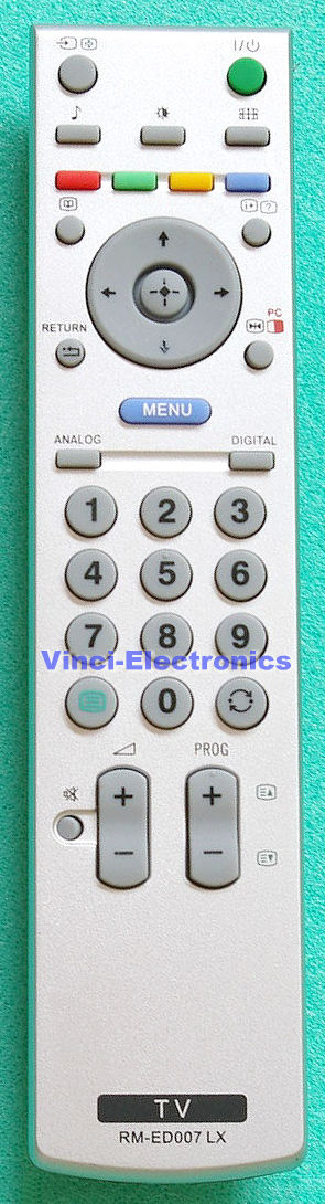Sony BRAVIA RM-ED007 LCD original look replacement remote ...
